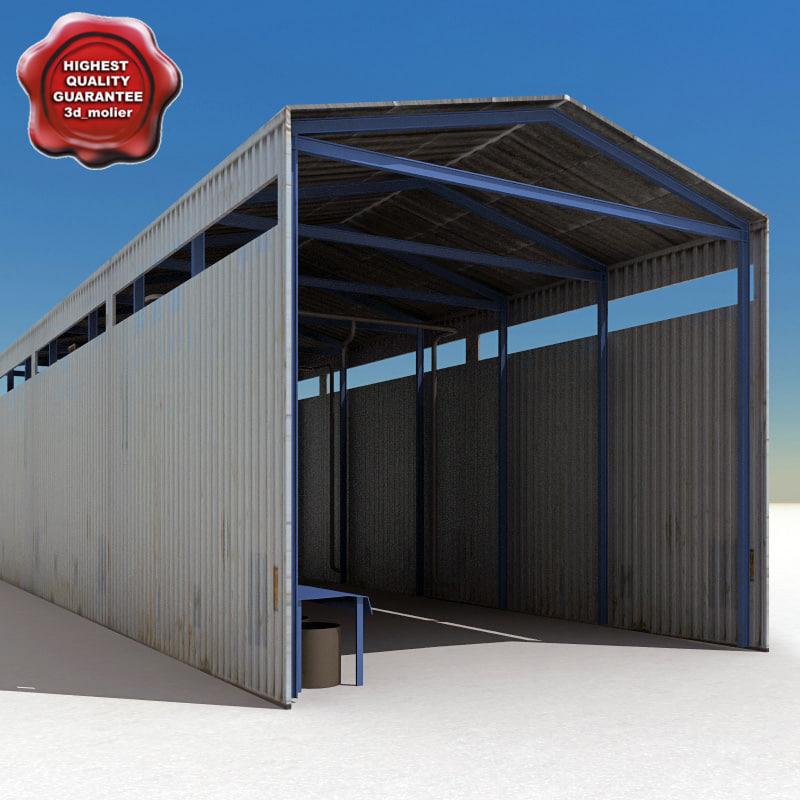 3d factory hangar model