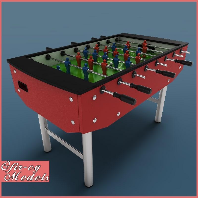 3d model foosball tabel