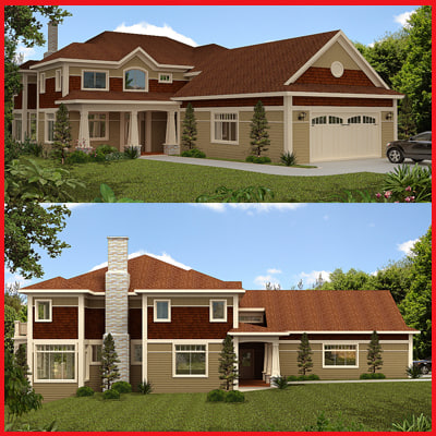 3d luxury house model
