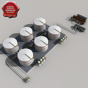 3d model fuel oil tanks