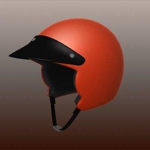 demijet motorcycle helmet 3d max