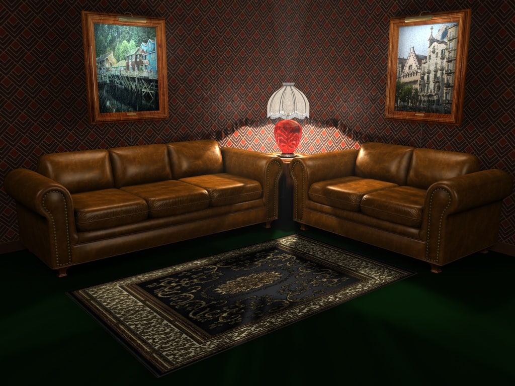 3ds max leather sofa