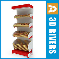 Bread shelf with bread by 3DRivers