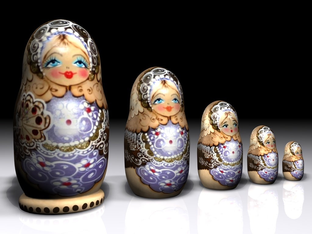 3d model matrioshka nesting dolls