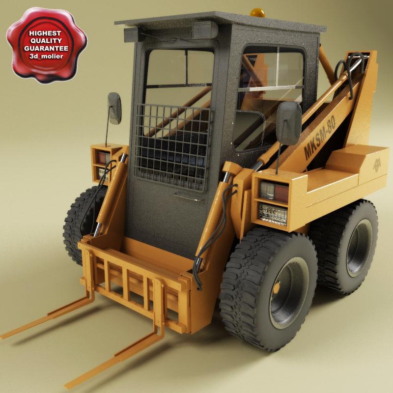 3d model mksm-800 fork lift