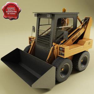3d mksm-800 skid-steer loader model