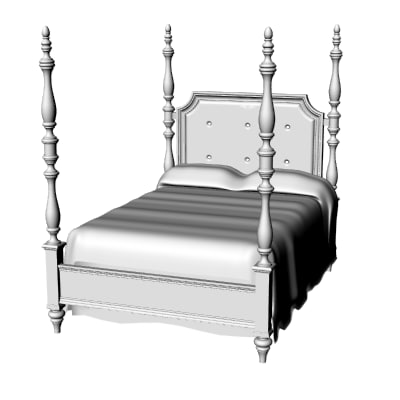 3d modern classic poster bed