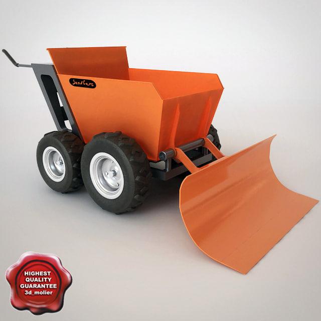 3d model muck-truck snow plough