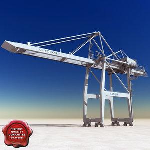 port container crane 3ds
