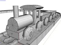 locomotive railway 3d model