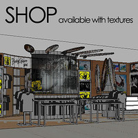 fashion boutique 3d max