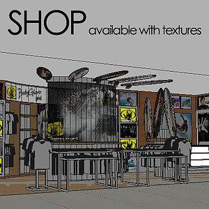 fashion boutique 3d max