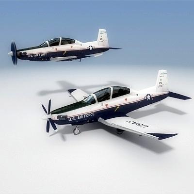 3d t-6a texan ii - model