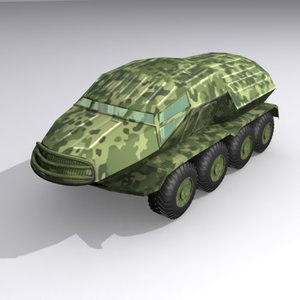 3d model armoured personel carrier
