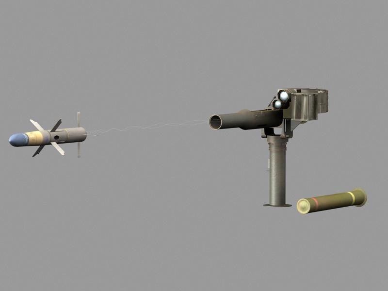 3d tow basic launcher missile