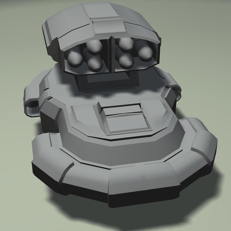 free obj model assault hovercraft