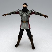 thief character medieval 3d model