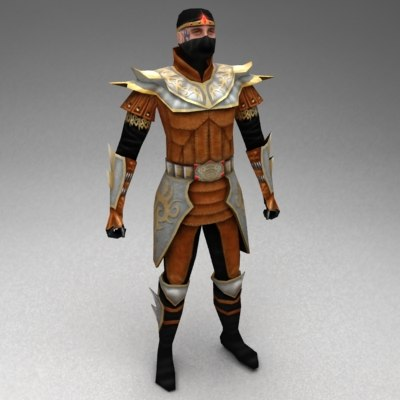 3d thief character medieval