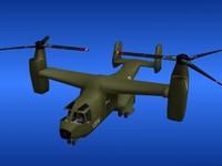 3d model v-22 osprey