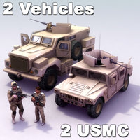 2 Vehicles & 2 USMC