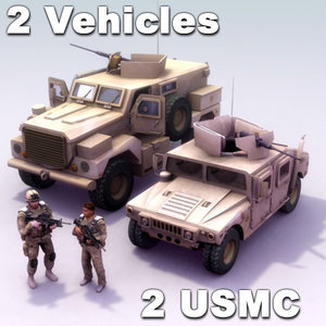 3d rigged usmc model
