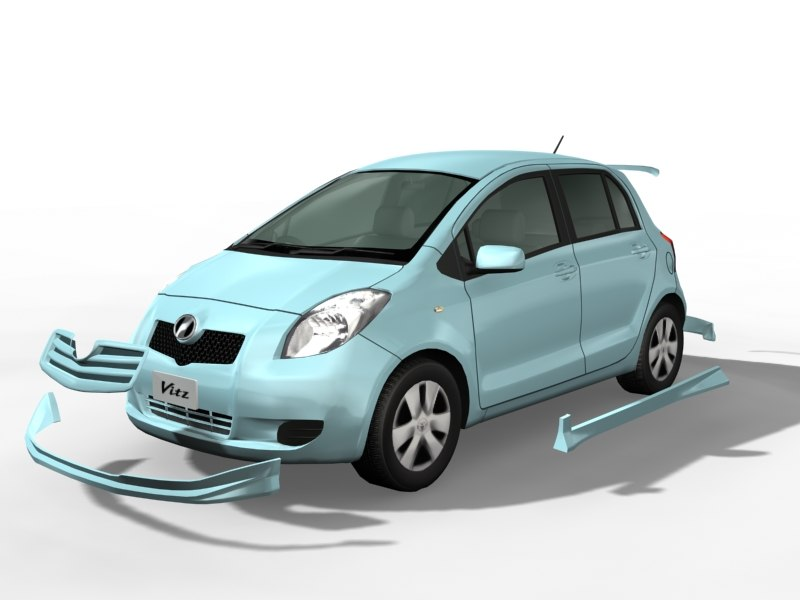 3d model toyota vitz yaris