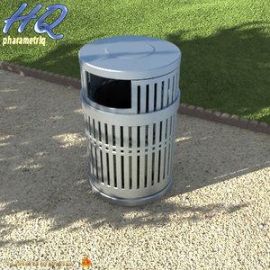 3d wastebasket 03 model