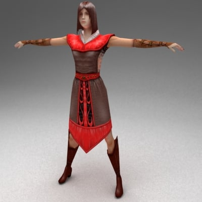 3d female citizen model