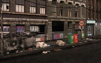 3ds max realistic dirty street scene
