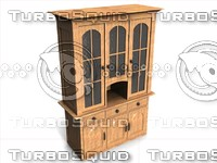 3d amish almirah furniture