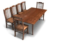 Amish Dining Set - High Quality Furniture 3d model