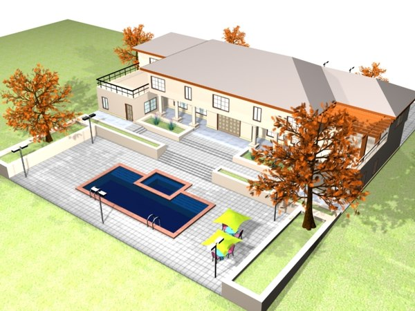 3ds max big house