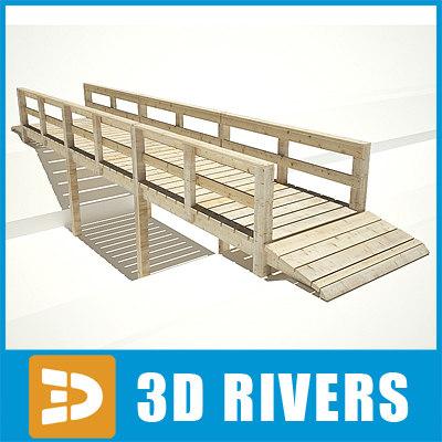 bridge wooden 3d 3ds