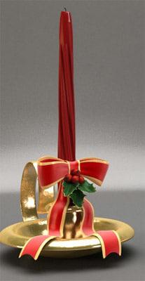 maya christmas candle