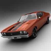 3d 1969 chevrolet chevelle ss model