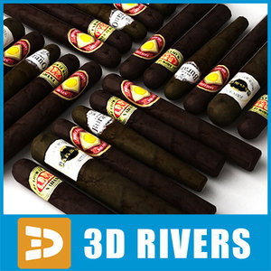 cigars supermarket tobacco 3d model