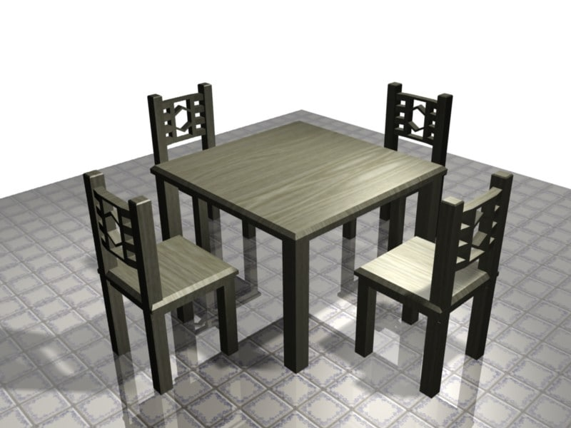 dining table 3d blend