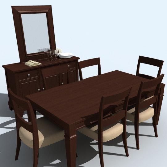 3d dining room set