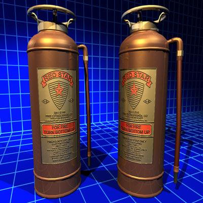 extinguisher copper 01 flame obj