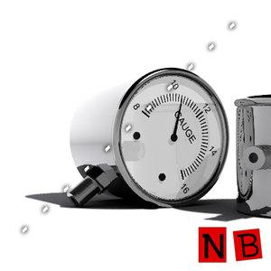 3d gauge metal presure model