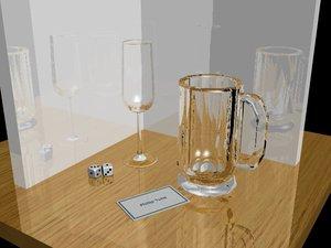 free wine glass beer mug 3d model