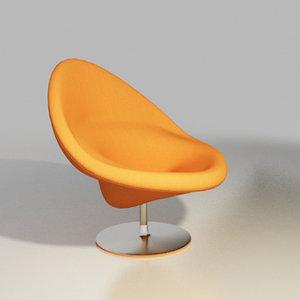 artifort chair design pierre paulin 3d model