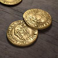 3d gold coin model