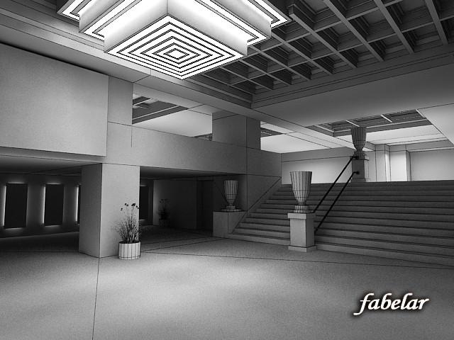 entrance hall 3d max
