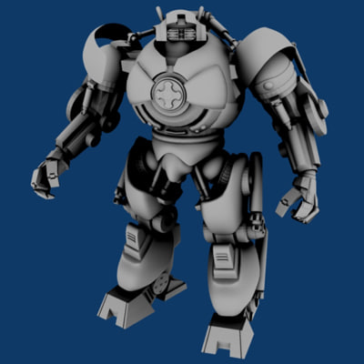3dsmax big mechanical robotic
