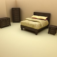 Klaussner Ashton Bedroom Furniture Set - High Quality Furniture 3d model