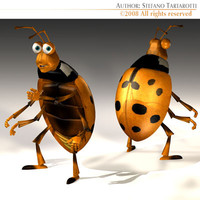 3d ladybug cartoon character model