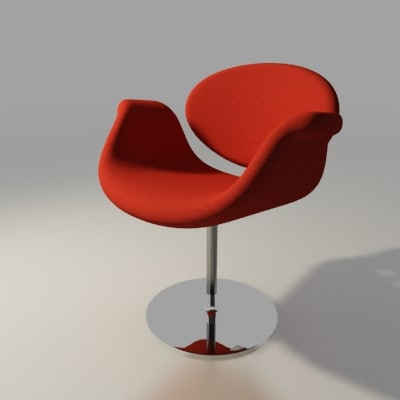 artifort chair design pierre paulin 3ds