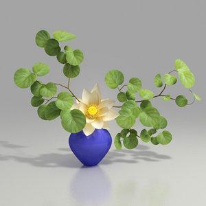 3d flower arrangement works model