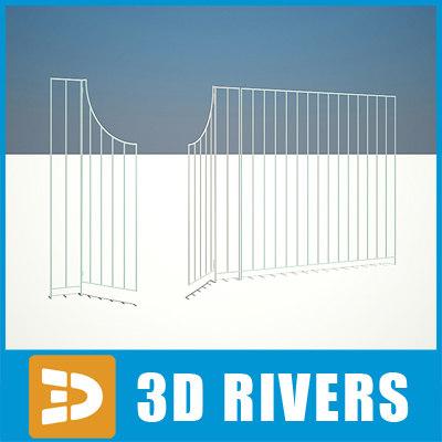 3dsmax metallic gate 01